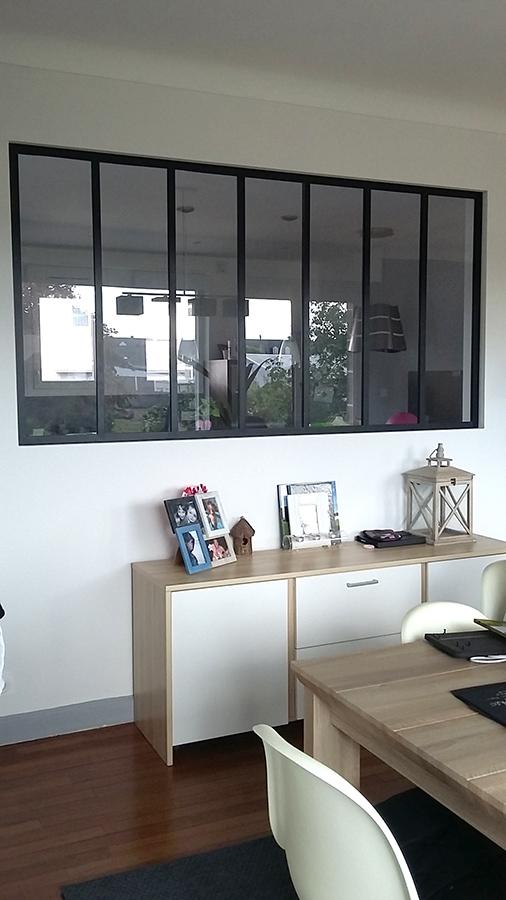 Verrière atelier artiste - RAL 9005 noir