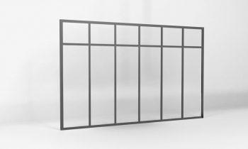 verriere atelier hauteur 1450-6 vitrages avec traverse