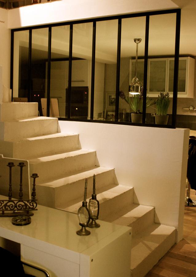verrière atelier artiste interieur escalier