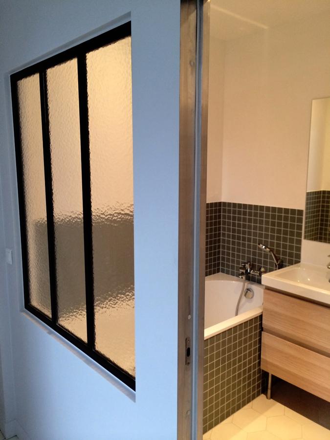 Verrière d'intérieur - salle de bain
