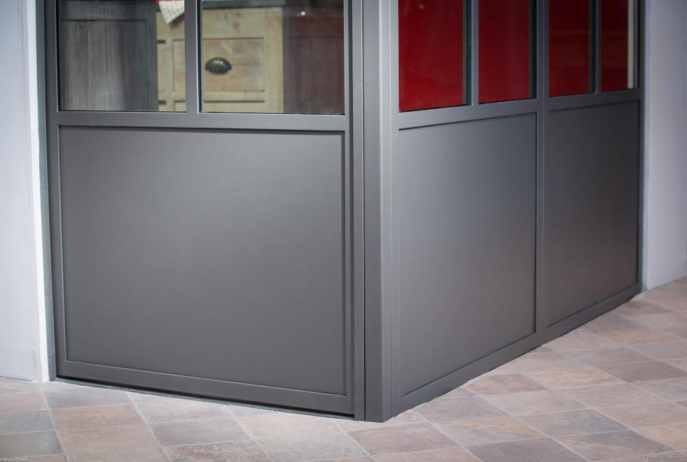 Verrière atelier artiste - gris 2900 sablé