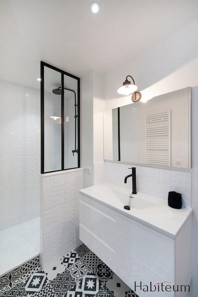 verriere-salle-de-bain-noir - Verriere Atelier d\'Artiste